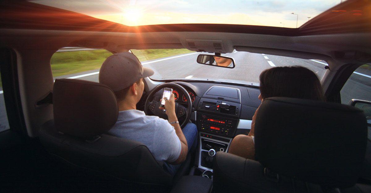 Sufrir un accidente de tráfico como acompañante