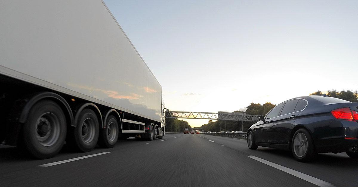 Caso de accidente de tráfico con camión